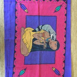 Vintage 90's Disney Pocahontas Pillow Case